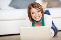Cheerful female looking at the camera Stock Photos