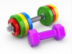 Fitness concept.dumbbell weights Stock Illustration