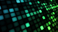 LED Wall Blue Green - stock footage