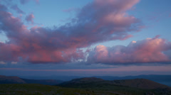 Amazing clouds over mountains Stock Footage