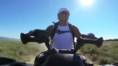 Summer tour on a quad atv Stock Footage