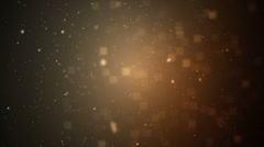 Particles Amber Orange - stock footage