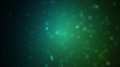 Particles Blue Green 2 Stock Footage