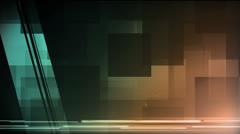 Pixel Block Blue Amber - stock footage