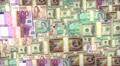 World Money zoom in. US dollars, Euro, Japan Jen, Canadian HD Footage