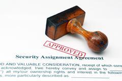 Security assignment form Stock Photos