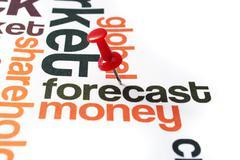 Forecast money concept Stock Photos