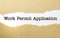 Work permit application Stock Photos