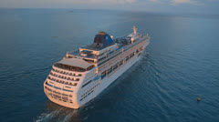Aerial View of Cruise Ship, Miami Stock Footage