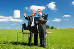 Planning businessmen Stock Photos