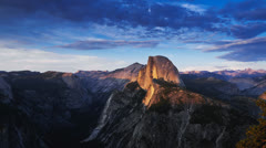 half-dome timelapse - stock footage