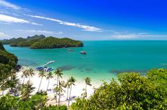 View of ang thong national marine park, thailand Stock Photos