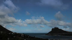 Timelapse over Houtbay/clouds Stock Footage