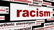 Stock Video Footage of Racism warning message design