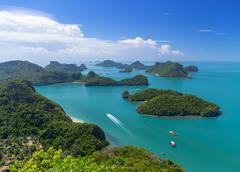 Top view of ang thong national marine park, thailand Stock Photos