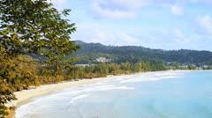 Kamala beach Stock Footage
