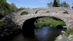 Cobblestone Bridge Stock Footage