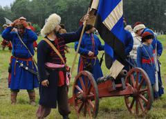 artillery detachment - stock photo