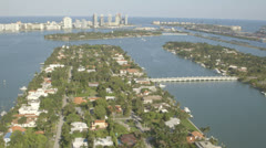 Aerial View of Miami Residential Islands, Florida Stock Footage