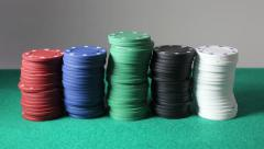 Stopmotion poker chips Stock Footage