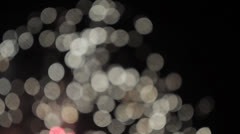 Fireworks Out of Focus Stock Footage