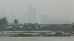 Philippines Skyline Pollution Stock Footage