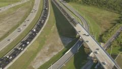 Aerial View of Roads in Miami, Florida Stock Footage