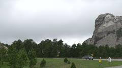 Mount Rushmore pan shot Stock Footage