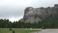 Stock Video Footage of Mount Rushmore seen from road