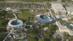 Aerial view of Miami Dolphinarium, Florida Stock Footage