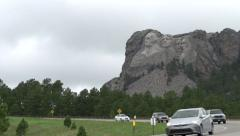 Mount Rushmore wide angle at base Stock Footage