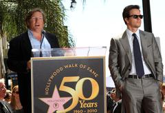 mark wahlberg is honored on the hollywood walk of fame with the 2414th star. - stock photo