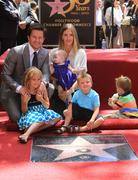 Stock Photo of mark wahlberg is honored on the hollywood walk of fame with the 2414th star.
