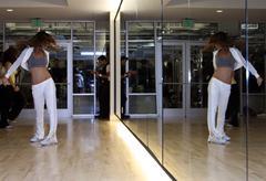 creator of the pussycat dolls, girliscious, teaches a sneak peak workout - stock photo