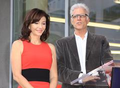 Stock Photo of mary steenburgen honored with star on the hollywood walk of fame.