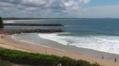 Panoramic shot, Port Macquarie Beaches. Stock Footage