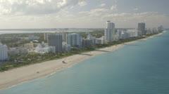 Aerial View of Miami Beach, Florida Stock Footage