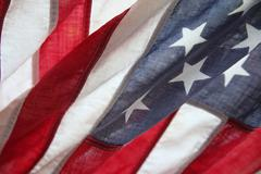Very old American flag Stock Photos