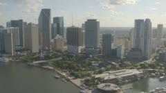 Aerial View of Downtown Miami, Florida Stock Footage
