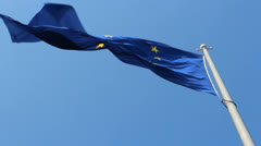 Europe union flag - stock footage