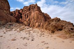 Travel photos of israel -timna park and king solomon's mines Stock Photos