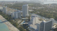 Aerial View of Miami Beach, Florida Stock Footage