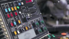 Lathe control panel Stock Footage