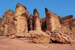 travel photos of israel -timna park and king solomon's mines - stock photo