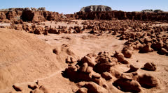 Goblin Valley ws elevated lock off Stock Footage