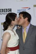 rich sommer and wife virginia donohoe.bafta-los angeles 7th annual tv tea par - stock photo