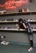 bai ling.bai ling visits the ed hardy shoe wearhouse.held at psdi-usa.los ang - stock photo