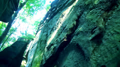 Giant rocks in wild nature Stock Footage