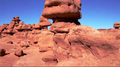 Goblin Valley ms pan Stock Footage