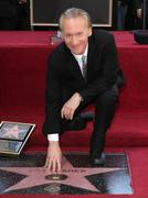 Stock Photo of bill maher receives star on the hollywood walk of fame